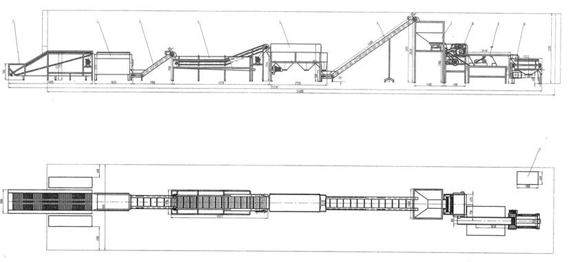 Layout for 2-3T/H lychee jam processing plant