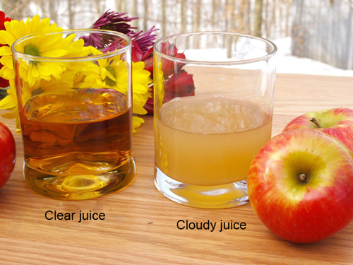 clear juice and cloudy juice